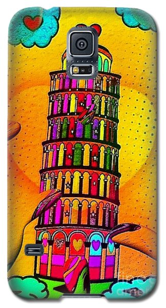 Galaxy S5 Case featuring the digital art Pisa Popart By Nico Bielow by Nico Bielow