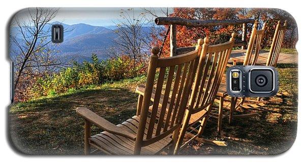 Pisgah Inn's Rocking Chairs Galaxy S5 Case