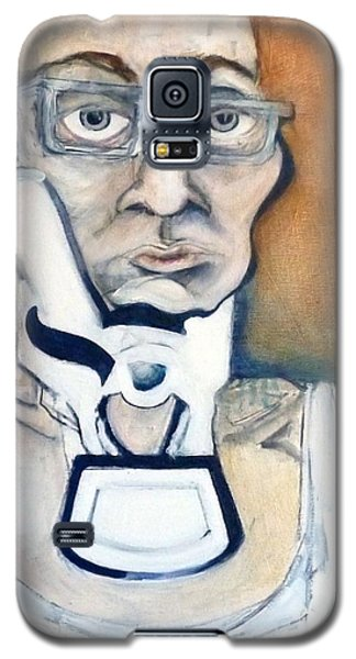 Galaxy S5 Case featuring the painting Pissed Crisis by Carolyn Weltman