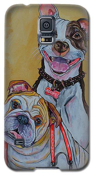 Pitbull And Bulldog Galaxy S5 Case by Patti Schermerhorn
