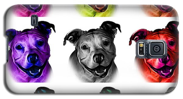 Pitbull Terrier - F - S - Wb - Mosaic Galaxy S5 Case