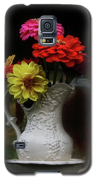 Pitcher And Zinnias Galaxy S5 Case