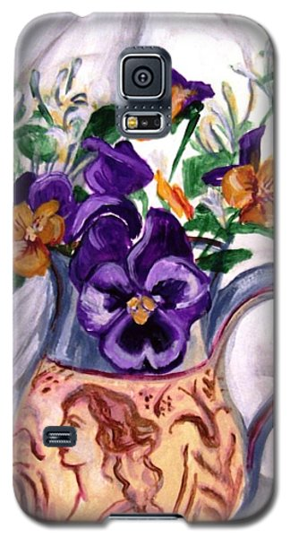 Pitcher Of Pansies Galaxy S5 Case
