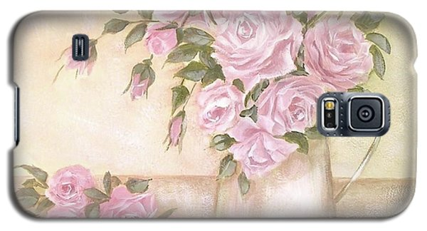 Pitcher Of  Pink Roses  Galaxy S5 Case by Chris Hobel