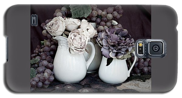 Galaxy S5 Case featuring the photograph Pitchers And Tapestry by Sherry Hallemeier