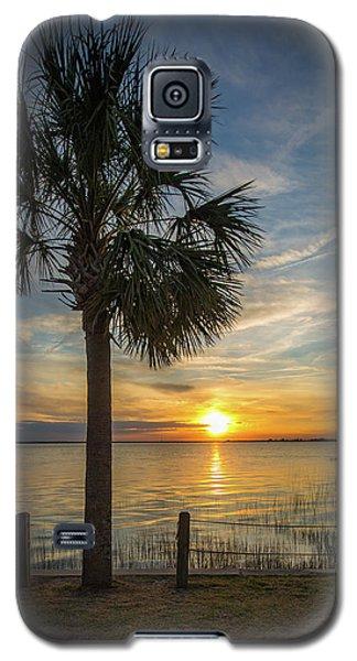 Pitt Street Bridge Palmetto Tree Sunset Galaxy S5 Case