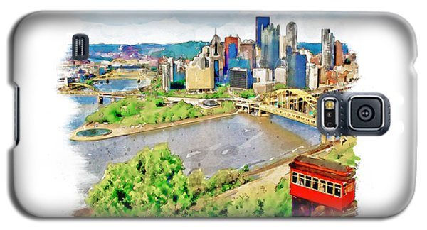 Pittsburgh Aerial View Galaxy S5 Case by Marian Voicu
