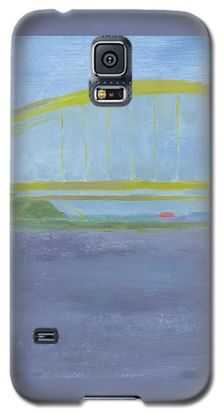 Galaxy S5 Case featuring the painting Pittsburgh Bridge by Chris N Rohrbach