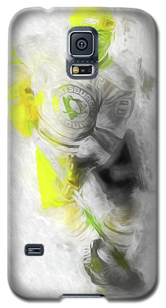 Galaxy S5 Case featuring the photograph Pittsburgh Penguins Nhl Sidney Crosby Painting Fantasy by David Haskett