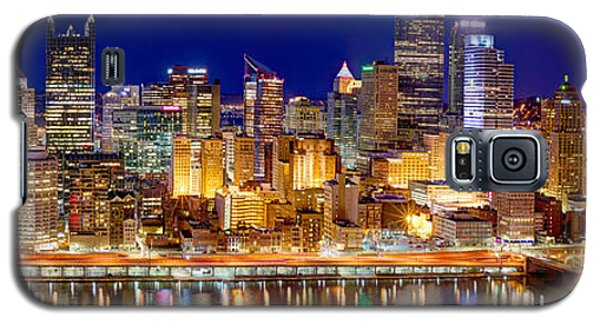 Pittsburgh Pennsylvania Skyline At Night Panorama Galaxy S5 Case