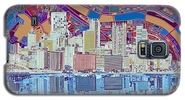 Pittsburgh Skyline Abstract 6 Galaxy S5 Case