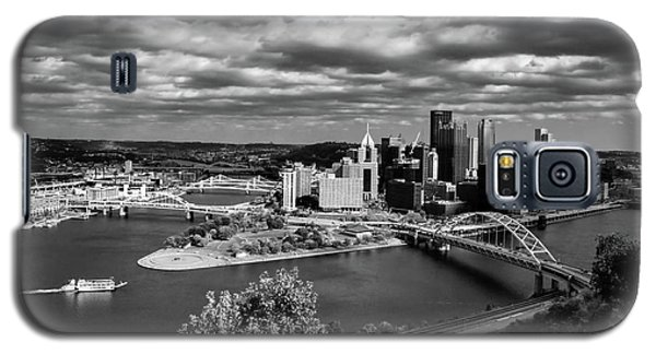 Pittsburgh Skyline With Boat Galaxy S5 Case