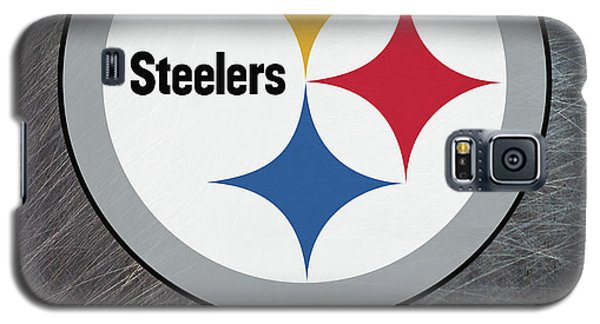 Pittsburgh Steelers On An Abraded Steel Texture Galaxy S5 Case