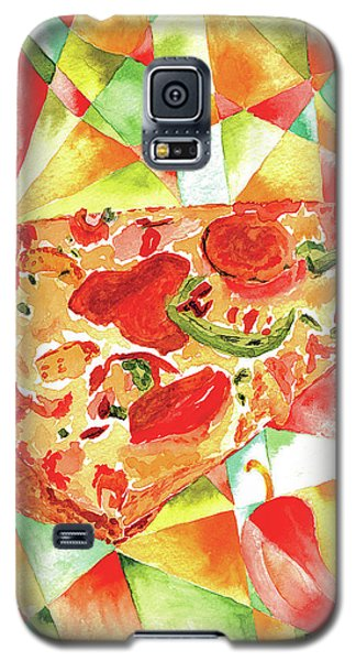Galaxy S5 Case featuring the painting Pizza Pizza by Paula Ayers