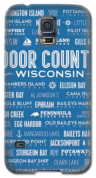 Places Of Door County On Blue Galaxy S5 Case