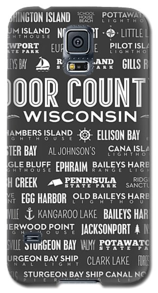 Places Of Door County On Gray Galaxy S5 Case