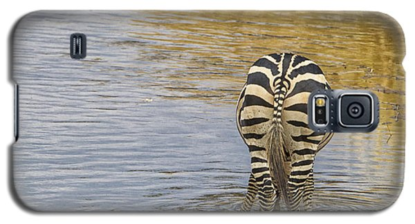 Galaxy S5 Case featuring the tapestry - textile Plains Zebra by Kathy Adams Clark