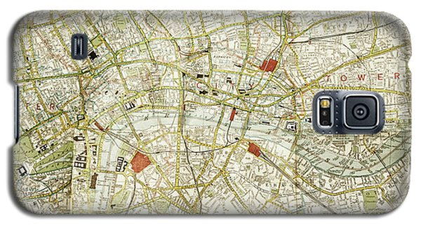 Galaxy S5 Case featuring the photograph Plan Of Central London by Patricia Hofmeester