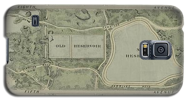 Plan Of Central Park City Of New York 1860 Galaxy S5 Case