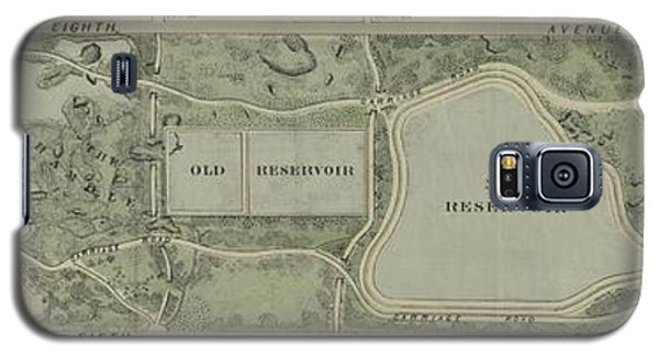 Plan Of Central Park City Of New York 1860 Galaxy S5 Case by Duncan Pearson