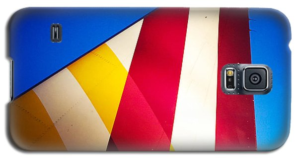 Plane Abstract Red Yellow Blue Galaxy S5 Case