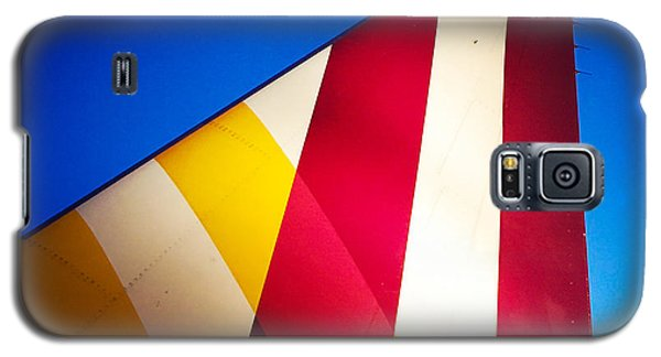 Detail Galaxy S5 Case - Plane Abstract Red Yellow Blue by Matthias Hauser