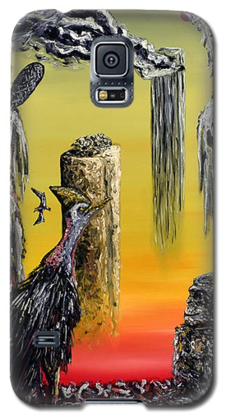 Galaxy S5 Case featuring the painting Planet Of Anomalies by Ryan Demaree