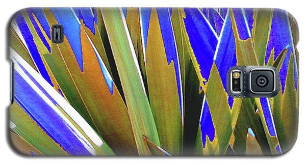 Plant Burst - Blue Galaxy S5 Case by Rebecca Harman