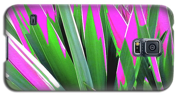 Galaxy S5 Case featuring the photograph Plant Burst - Pink by Rebecca Harman