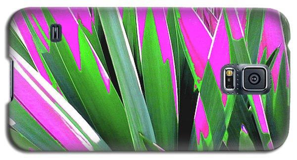 Plant Burst - Pink Galaxy S5 Case by Rebecca Harman