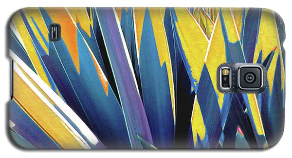 Galaxy S5 Case featuring the photograph Plant Burst - Yellow by Rebecca Harman