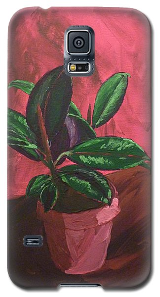Galaxy S5 Case featuring the painting Plant In Ceramic Pot by Joshua Redman