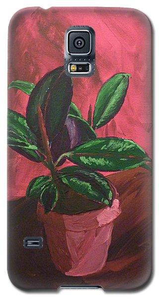 Plant In Ceramic Pot Galaxy S5 Case by Joshua Redman