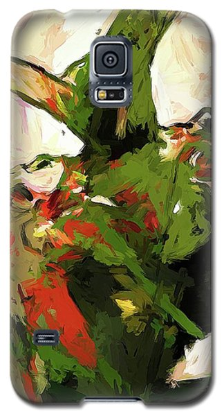 Plant Pirouette Leaf Lift Green Galaxy S5 Case