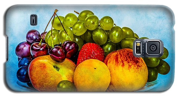 Galaxy S5 Case featuring the photograph Plate Of Fresh Fruits by Alexander Senin