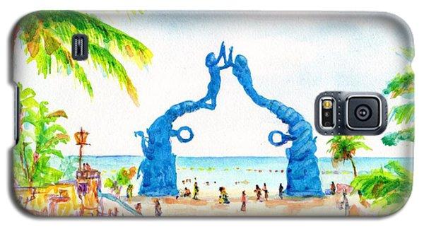 Playa Del Carmen Portal Maya Statue Galaxy S5 Case