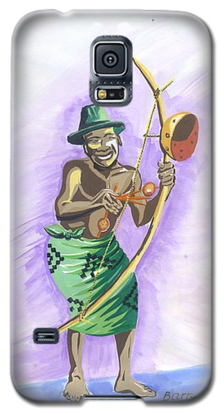 Galaxy S5 Case featuring the painting Player Umuduri From Rwanda by Emmanuel Baliyanga