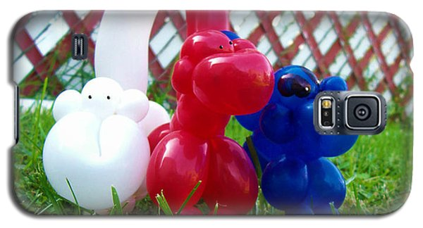 Galaxy S5 Case featuring the photograph Playful Balloon Monkeys by Shawna Rowe