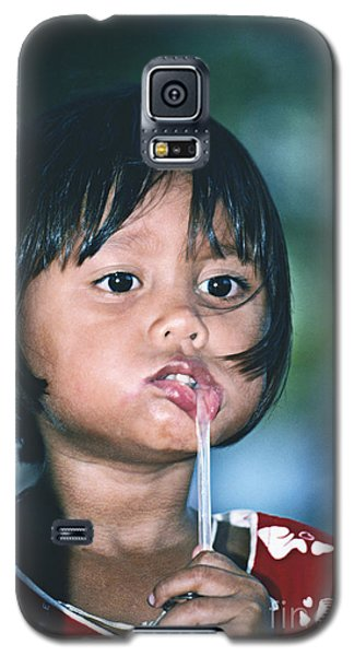 Galaxy S5 Case featuring the photograph Playful Little Girl In Thailand by Heiko Koehrer-Wagner