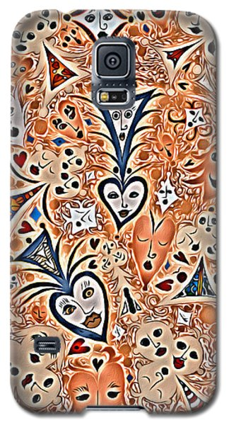 Playing Card Symbols With Faces In Rust Galaxy S5 Case