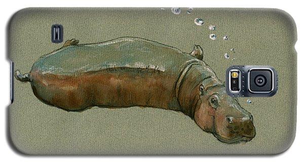 Playing Hippo Galaxy S5 Case by Juan  Bosco