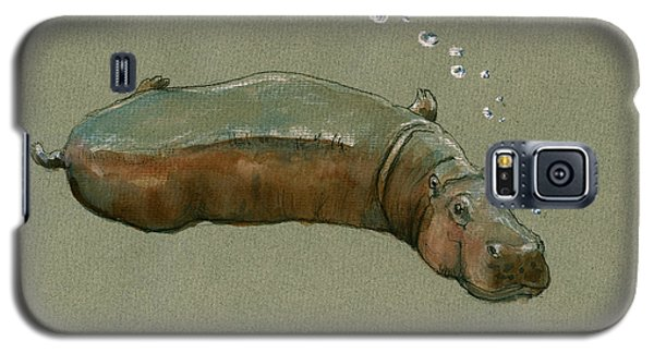 Playing Hippo Galaxy S5 Case by Juan  Bosco