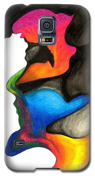 Galaxy S5 Case featuring the painting Playing With Colors by Fanny Diaz