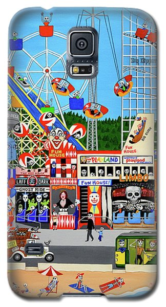 Galaxy S5 Case featuring the painting Playland In The Afterlife by Evangelina Portillo