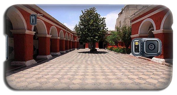 Galaxy S5 Case featuring the photograph Plaza At Santa Catalina Monastery by Aidan Moran