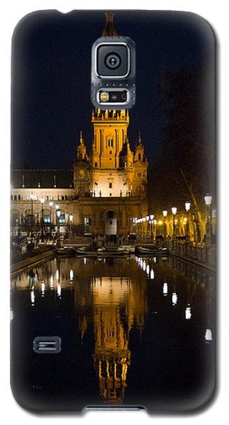 Plaza De Espana At Night - Seville 6 Galaxy S5 Case by Andrea Mazzocchetti