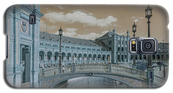 Galaxy S5 Case featuring the photograph Plaza De Espana Vintage by Jenny Rainbow