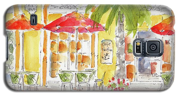 Galaxy S5 Case featuring the painting Plaza Machada Mazatlan by Pat Katz