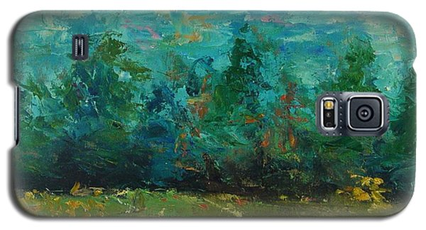 Galaxy S5 Case featuring the painting Plein Air With Palette Knives by Carol Berning
