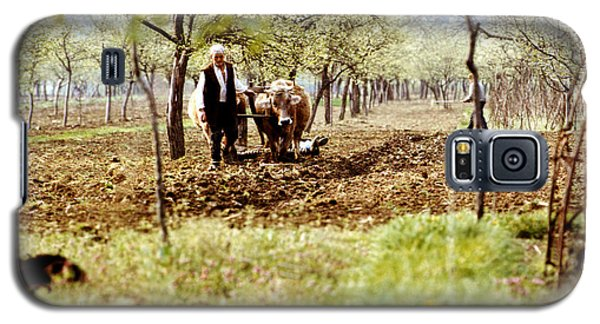 Ploughing In The Orchard Galaxy S5 Case by Emanuel Tanjala